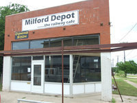 Image: Milford Depot Cafe — P.J. Leible has been renovating the old depot and will soon be ready to serve breakfast and lunch in the 'new' Milford Depot-the railway cafe.