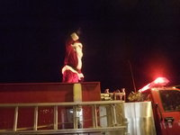 Image: Here Comes Santa Claus — Santa Claus has come to Milford on his fire engine for five years now.