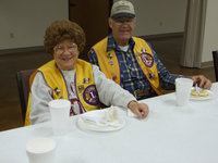 Image: Italy Lion's Club Members — Italy Lion's Club members Mr. and Mrs. Onstad enjoying breakfast.
