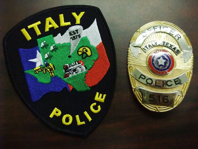 Image: The Italy Police Department is determined — This is the new Italy Police Department Patch and an official, Italy Police Officer's, badge.