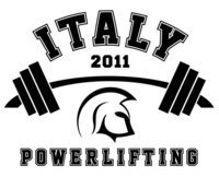 Image: Strong Shirt — The 2011 Italy Powerlifting shirt design.