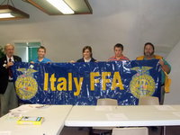 Image: Italy FFA Banners — Italy Lions Club presented Italy FFA with two banners.