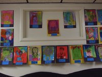 Image: Self portraits — Jane Medrano's fifth grade class' self portraits.
