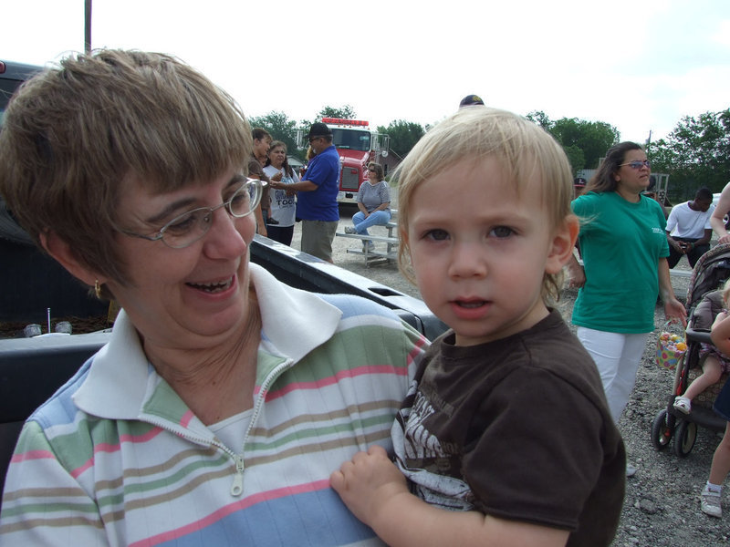 Image: Hunter on the hunt — Hunter Everett and Nana, Barbara Davis, have lots of fun at the annual event.