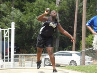 Image: Jimesha Reed — Jimesha Reed didn't hold anything back at Regional throwing a personal best.