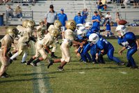 "Image: Snapping into action — Italy ""C"" team playing Blooming Grove Lions last Saturday."