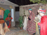 Image: Bethlehem Revisited — The Wisemen visit the Tax Collector in Bethlehem Revisited.  The journey back in time is the first two weekends in December-a wonderful family time event.