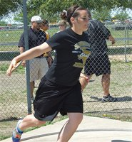 Image: Bales advances — Just a sophomore, Kaytlyn Bales makes the discus finals at the varsity level.