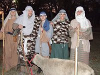 Image: Shepherds watched their flocks — Shepherds and sheep from Bethlehem Revisited 2007.