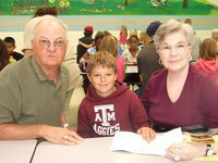 Image: Thomas Crowell with grandparents
