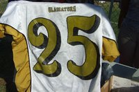 Image: Vintage jersey — This Gladiator vintage football jersey #25 was worn in 2001.