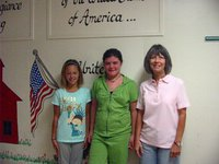 Image: Bailey, Bailey and Carolyn — Bailey Eubank, Bailey DeBorde and Carolyn Maevers, Stafford Elementary Principal.