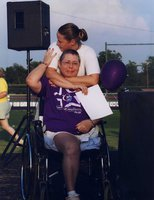 Image: The late LaWanna Graf and her daughter Jenny at the 2007 Relay for Life event.