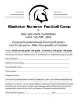 Image: Bring this form along with registration fee to Coach Bales and his staff the day of the camp.