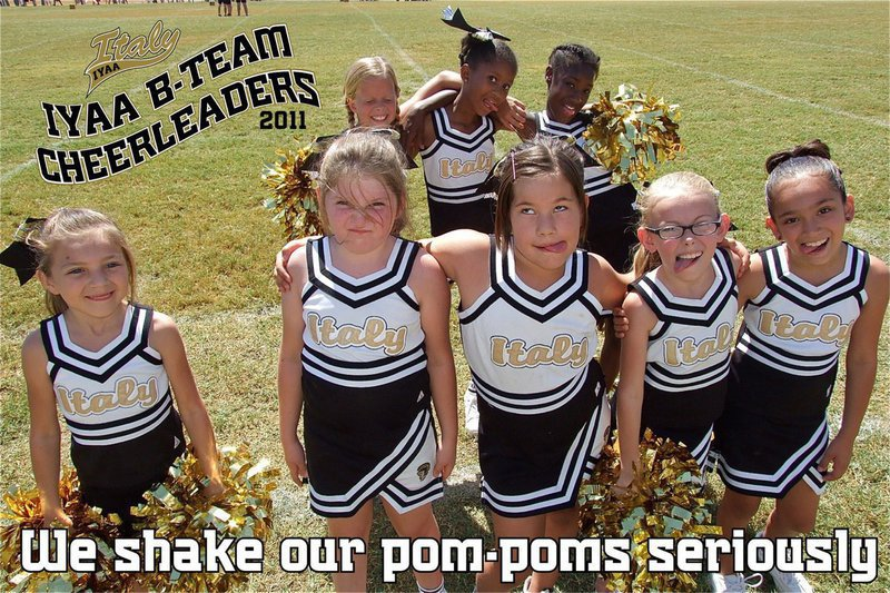 Image: If these IYAA B-Team Cheerleaders can't cheer you up then nothing will.