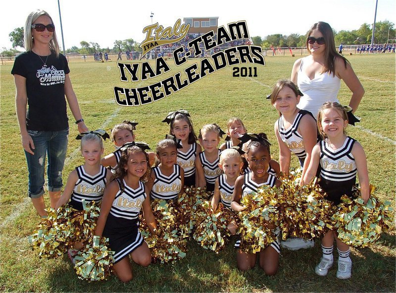 Image: The IYAA C-Team Cheerleaders made a lot of noise on Saturday under the direction of cheer coach Courtney Rudd and head cheer coach Jessica Posey.