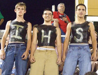 "Image: Justin Wood, Tyler Anderson and Cody Medrano are the ""IHS"" men."
