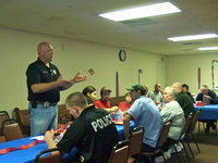 Image: Italy Police Chief Diron Hill is thanking the Italy Church of Christ for the appreciation breakfast.