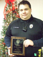 Image: 2011 Officer of the Year for the Italy Police Department is Eric Tolliver.