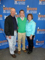 Image: Dan with his parents, Dale and Julie Crownover
