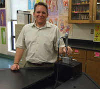 Image: Matthew Patterson, new science teacher at Italy High School, is preparing for a great year of science.  With a hands-on approach to learning, Patterson plans a lot of experiments with the students.