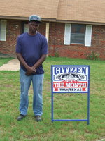 Image: Greg Anderson is honored to be the Citizen of the Month.