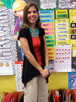 Image: Tracy Williams, Kindergarden teacher at Stafford Elementary
