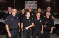 Image: The Italy Police Department was in full force while hosting National Night Out. Back row (L-R) Officer Shawn Martin, Officer Daniel Pitts, Chief Diron Hill, Officer Eric Tolliver and Officer Mike Richardson. Front Row (L-R) Reserve Officer Pedro Gonzalez, Officer Shelbee Landon, Sergeant Tierra Moony and department's administrator Sue Lauhoff.