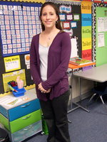 Image: First grade teacher Amy McClusky