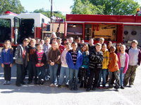 Image: Miss Hellner's fourth grade class enjoying Fire Safety Week at Stafford.