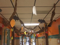 Image: Magic forest down the halls of Stafford Elementary