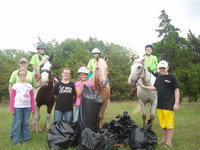 Image: Silver Spurs 4-Hers collected lots of trash off the equestrian trails at Lake Bardwell during their One Day of Service on October 13.