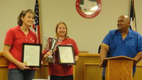 Image: Michele Riddle and Misty Escamilla are recognized