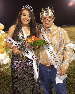 Image: The 2012 Homecoming Queen and King are Alyssa Richards and Blake Vega.