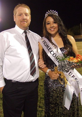 Image: Proud father Allen Richards with his daughter Alyssa Richards who happens to be the newly crowned 2012 Italy High School Homecoming Queen.