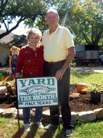 "Image: Joyce and James Hobbs had the ""Yard of the Month"" for October."
