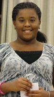 Image: LaJada Jackson, president of the Stafford Elementary Student Council