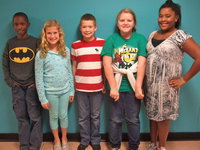 Image: Jaylon Lusk, Carson Holley, Tanner Chambers, Sydney Lowenthall and Lajada Jackson make up part of the Stafford Elementary student council.