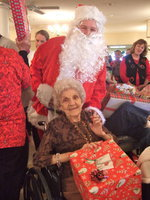 Image: Santa came to spread Christmas joy to all the residents.