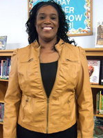 Image: Felicia Burkhalter is proud to be the Employee of the Month at Stafford Elementary.