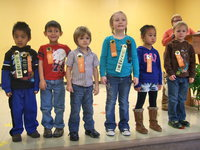 Image: Holley Spraberry's Pre – K perfect antendance winners.