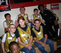 Image: Italy ISDs Special Olympic team waits patiently in the bleachers for their names to be called and their moment to compete. Athletes pictured are: (Top) Mikey South, Danny Ashley, Wyatt Ballard and Coach Erskin Anavitarte. (Middle) Charlie Bolin, Katie Connor and Nathan Brock. (Bottom) David Williams.