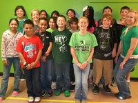 Image: Mrs. Medrano's class collectively wore 98 pieces of green!