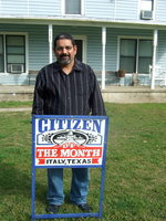 Image: Joe Tovar is honored to be selected as Citizen of the Month.