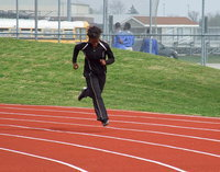 Image: Sophomore Italy Track star Kortnei Johnson is ready for the Regional races.
