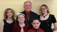 Image: Stafford Elementary Principal Jonathan Nash and family — Jennifer, Kayli, Collin and Brianna.