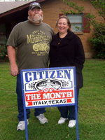 Image: Randy & Lynn Rudd share the honor for Citizen of the Month.