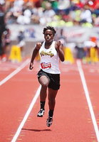 Image: Italy's Kortnei Johnson, a sophomore, wins the girls 100 Meter Dash with a record breaking time of 11:52 to set new state record during the 2013 UIL 1A State Track Meet which was held at Mike A. Meyers Stadium on the University of Texas at Austin campus.