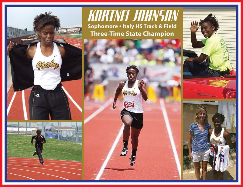Image: You can help send Kortnei Johnson to Florida to compete in the Nationals this summer. Kortnei, who first became a State champion in 2012 in the Class 2A 100 meter dash, is currently the 2013 State champion and new record holder in both the 100 meter dash and in the 200M meter dash.     The Nationals will be held July 8-13, 2013 in Orlando, Florida and Kortnei will be competing in the 100M dash and in the 4×100 relay. This event will be televised live on ESPN.