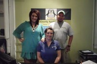 Image: Pete Hinojosa, Nancy Galloway and Breyanna Beets asssist customers with all their air conditioning needs.